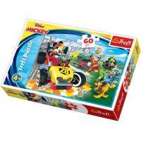 TF17322_001w Puzzle Trefl, Mickey Mouse, Raliu cu prietenii, 60 piese