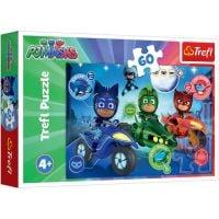 TF17324_001w Puzzle Trefl, Pj Masks, Cursa de noapte, 60 piese
