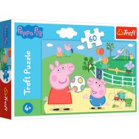 Puzzle Trefl 60 piese, Distractie cu prietenii, Peppa Pig