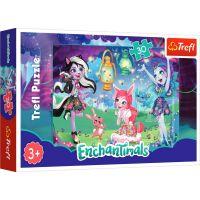 TF18236_001w Puzzle Trefl 30 piese, Lumea magica a Enchantimals