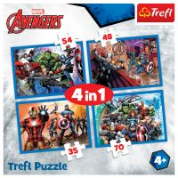 Puzzle Trefl 4 in 1, Neinfricatii Razbunatori