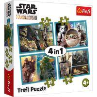 Puzzle Trefl 4 in 1, Lumea Mandalorianului