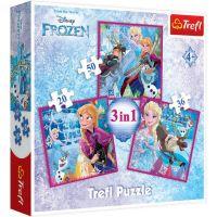 TF34832_001w Puzzle 3 in 1 Trefl, Disney Frozen 2, Magia iernii (20, 36, 50 piese)