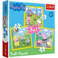 Puzzle Trefl 3 in 1, Ziua fericita a Peppei