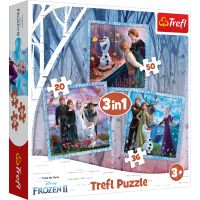 Puzzle Trefl 3 in 1, Povestea magica, Disney Frozen 2