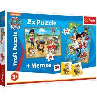 Puzzle Trefl 2 in 1, Echipa salvatoare, Paw Patrol