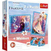 Puzzle Trefl 2 in 1, Un tinut misterios, Disney Frozen 2