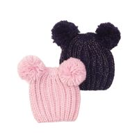 20203296 Set caciuli tricotate roz/bleumarin Minoti Tg Hat