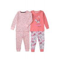 35110314 Set pijama cu maneca lunga si imprimeu Minoti, TG PYJ, Unicorn