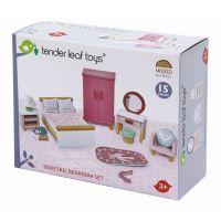 TL8152_001 Set mobilier din lemn, dormitor, pentru Casute de papusi, Tender Leaf Toys, Dovetail
