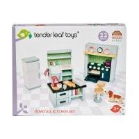TL8153_001 Set mobilier din lemn, bucatarie, pentru Casute de papusi, Tender Leaf Toys, Dovetail