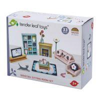 TL8154_001 Set mobilier din lemn, camera de zi, pentru Casute de papusi, Tender Leaf Toys, Dovetail