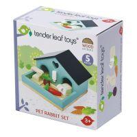 TL8163_001 Set cu figurina din lemn, iepurat, pentru Casute de papusi, Tender Leaf Toys, 5 piese