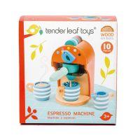 TL8223_001   Set de joac, Aparat pentru espresso din lemn, Espresso Machine, Tender Leaf Toys