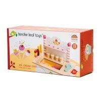 TL8236_001 Set de joaca, Caruciorul cu inghetata din lemn, Ice Cream Cart, Tender Leaf Toys, 15 piese
