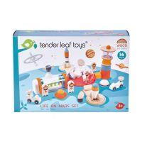 TL8312 Viata pe Marte, din lemn, Tender Leaf Toys, 16 piese