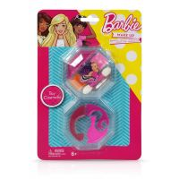 Trusa de Make-up rotunda, cu 2 niveluri, Barbie