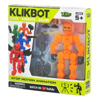 TST1600 Figurina Robot articulat transformabil KlikBot, Orange