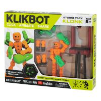 TST2600 Set Figurina Robot articulat transformabil KlikBot Studio Pack, Orange