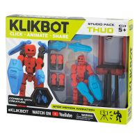 TST2600 Set Figurina Robot articulat transformabil KlikBot Studio Pack, Red