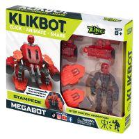 TST667 Set Figurina Robot articulat transformabil KlikBot Megabots Stampede, Red