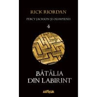 TW013_001w Carte Editura Arthur, Percy Jackson 4 Batalia din labirint, Rick Riordan