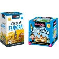 LG0054_001w Pachet educativ BrainBox, Descopera Romania si MemoRace, Descopera Europa