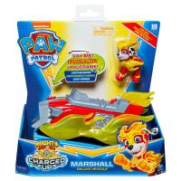 6055753_002w Figurina cu vehicul Paw Patrol Deluxe Vehicle Mighty Pups, Marshall 20121273
