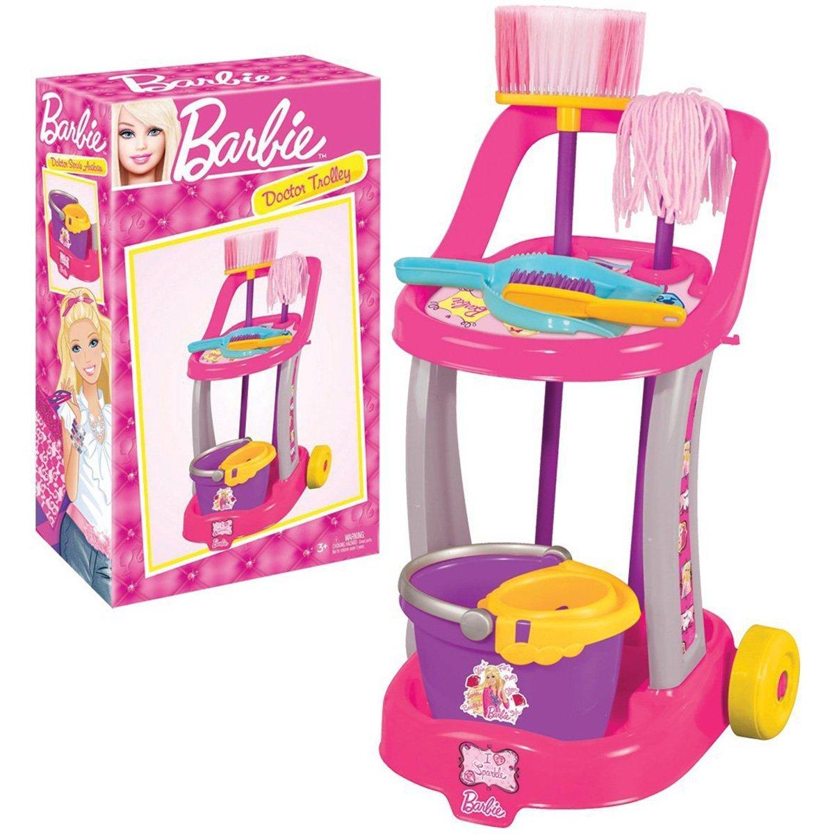 Troler cu accesorii de curatenie Barbie