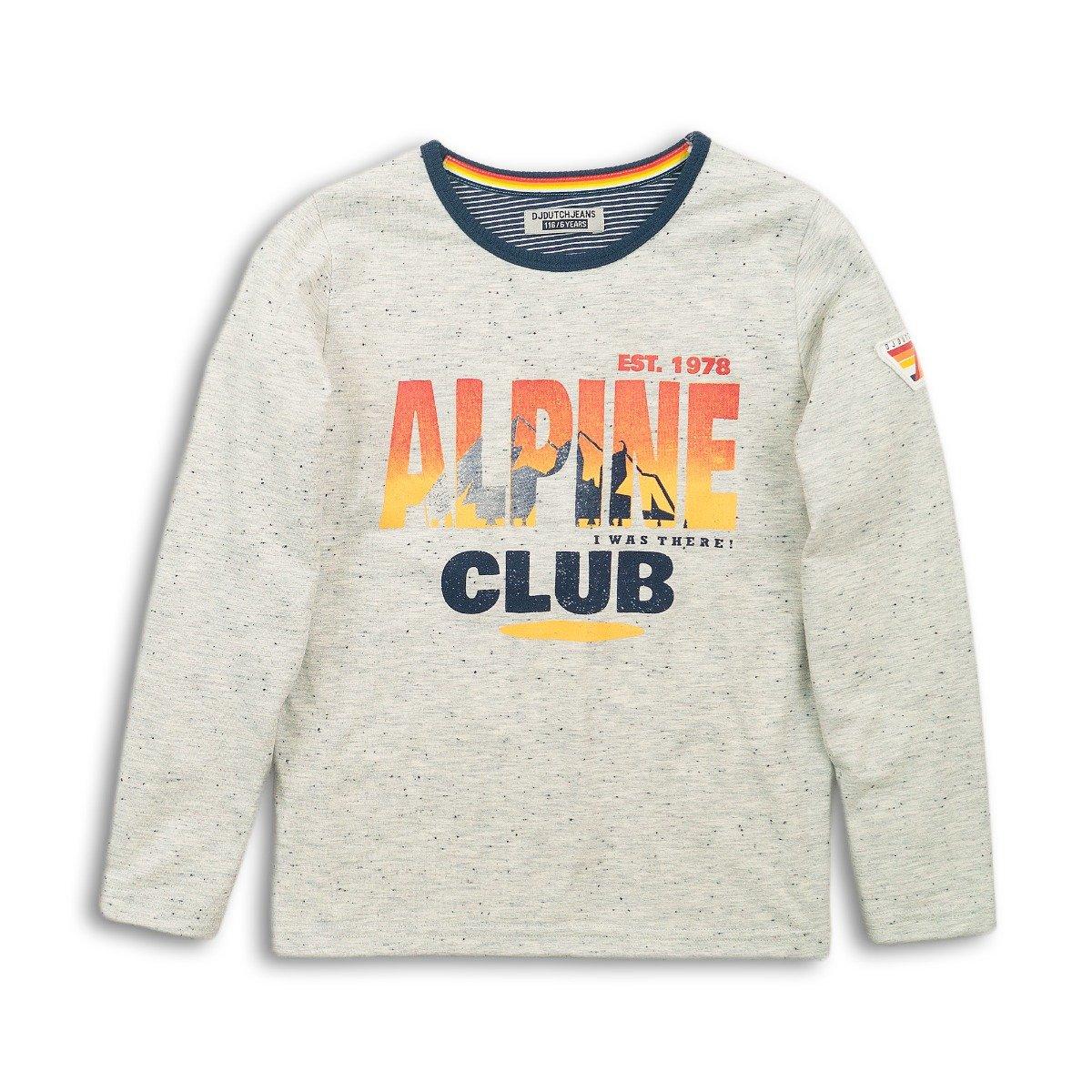 Tricou cu maneca lunga Alpine Club Dj Dutchjeans imagine