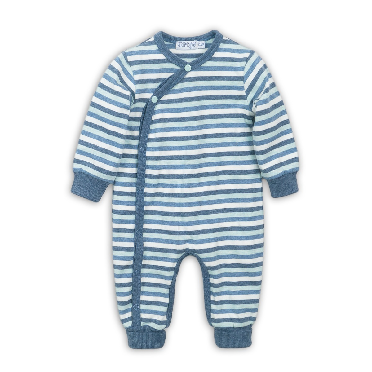 Salopeta bebe cu dungi orizontale Dirkje imagine