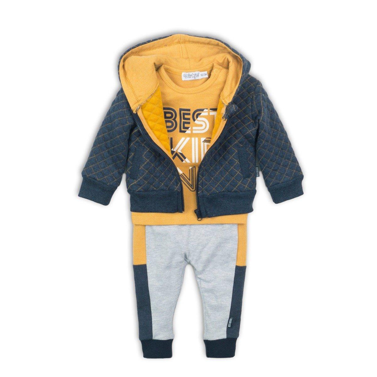 Set hanorac, tricou cu maneca lunga si pantaloni sport Best Kid Dirkje imagine