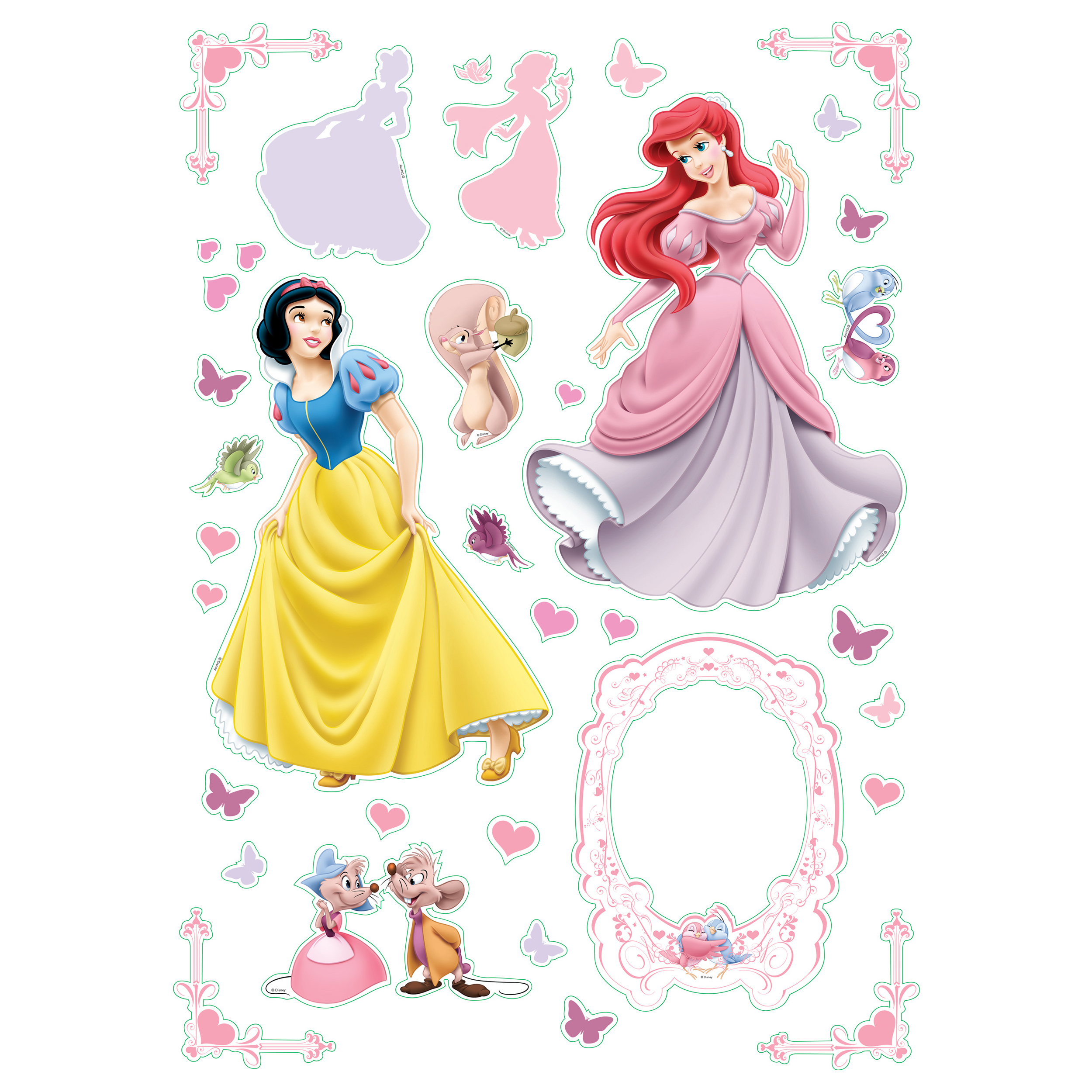 decoratiune de perete disney princess, 83.5 x 50 cm