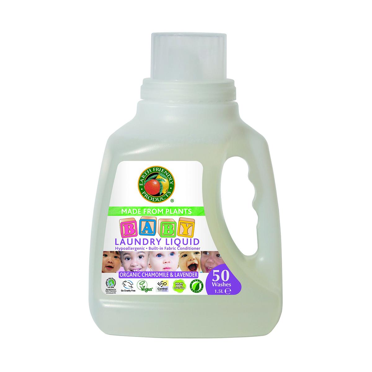 detergent lichid eco earth friendly - musetel si lavanda, 1.5 l
