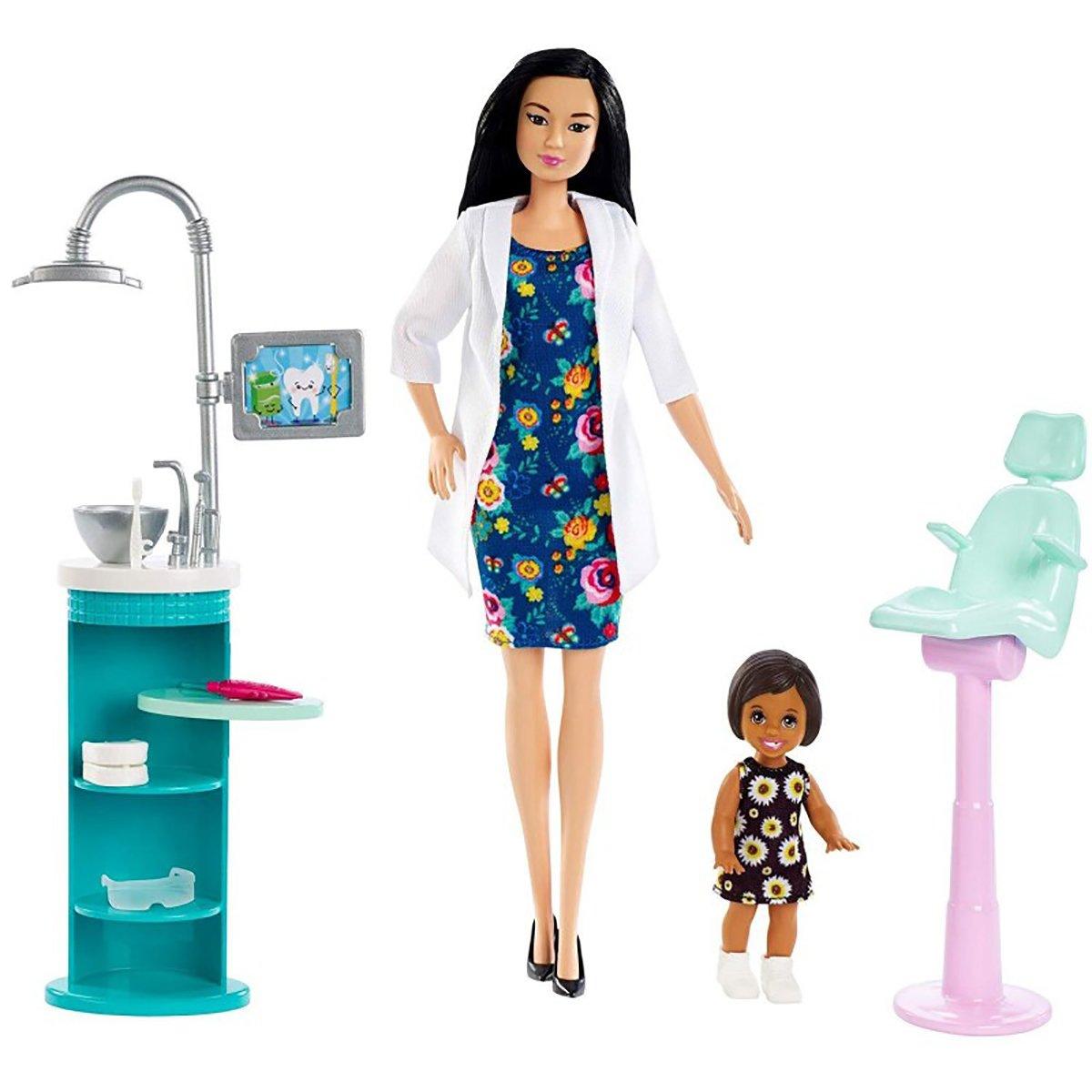 Set de joaca Barbie, Doctor dentist, FXP17 imagine