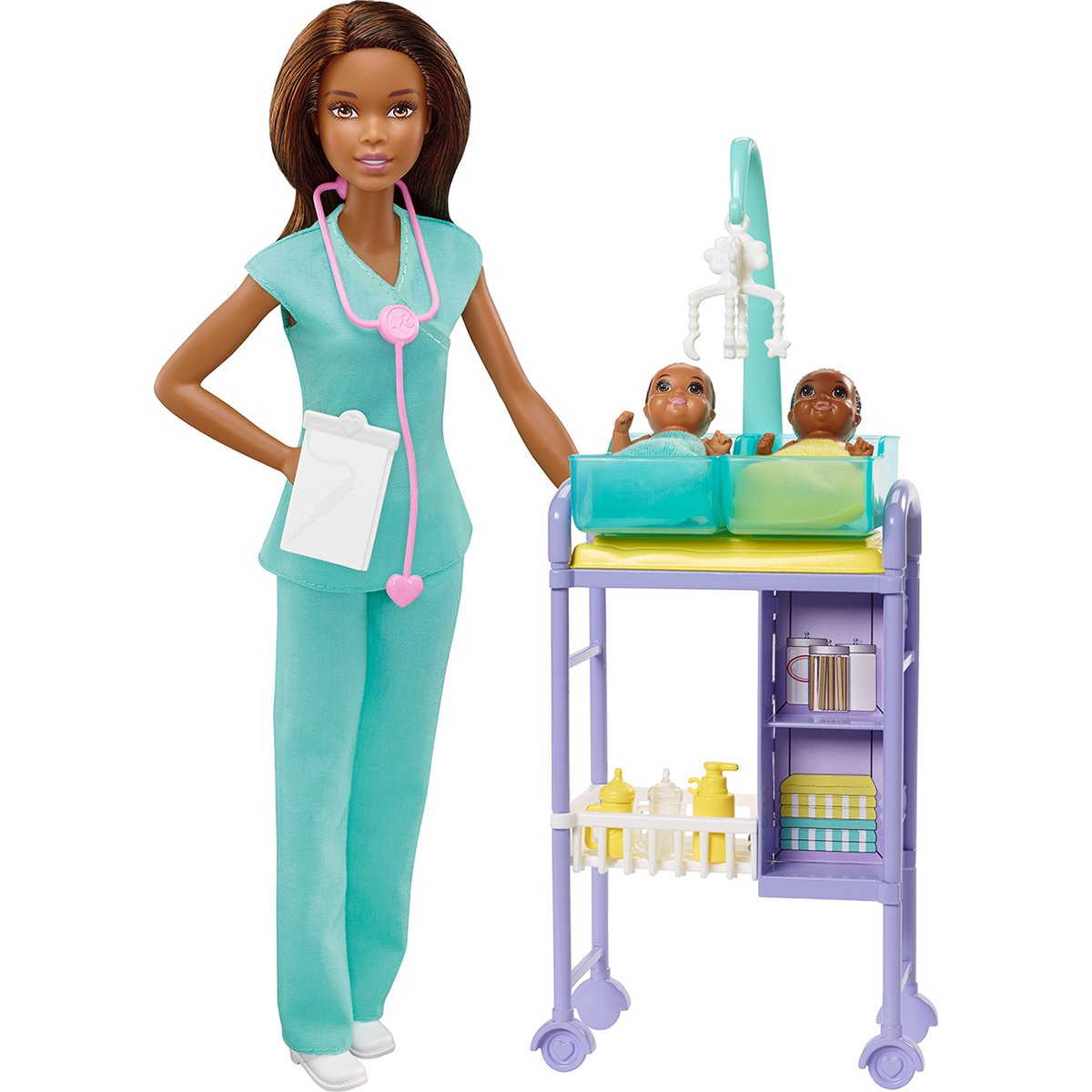Set de joaca Barbie, Doctor pediatru, GKH24