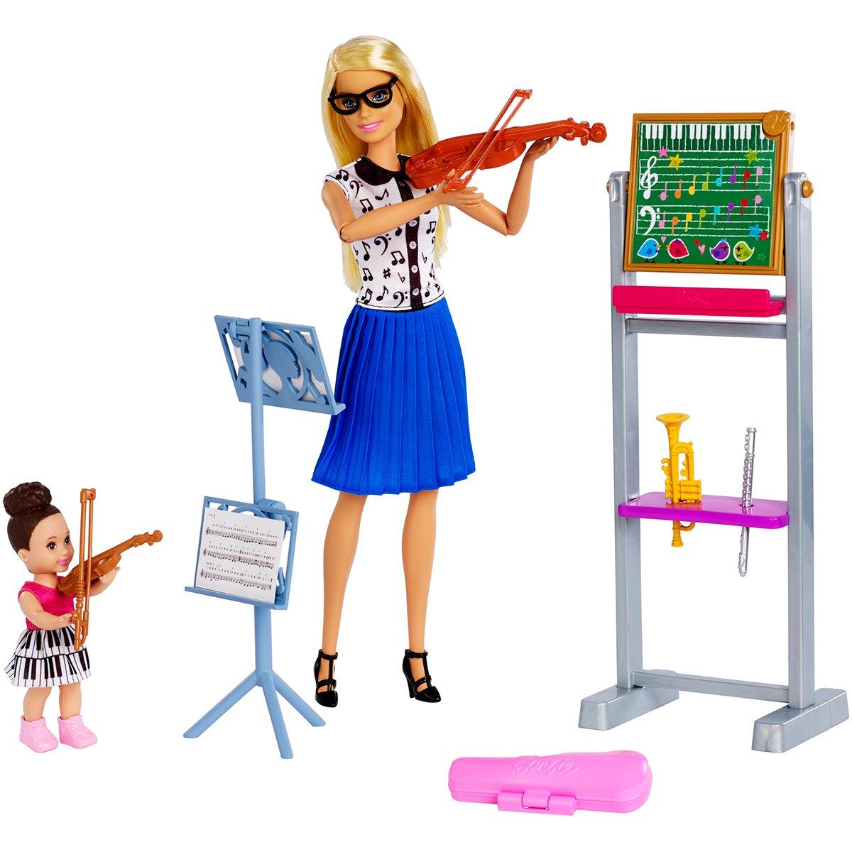 Set de joaca Barbie, Profesoara de muzica, FXP18