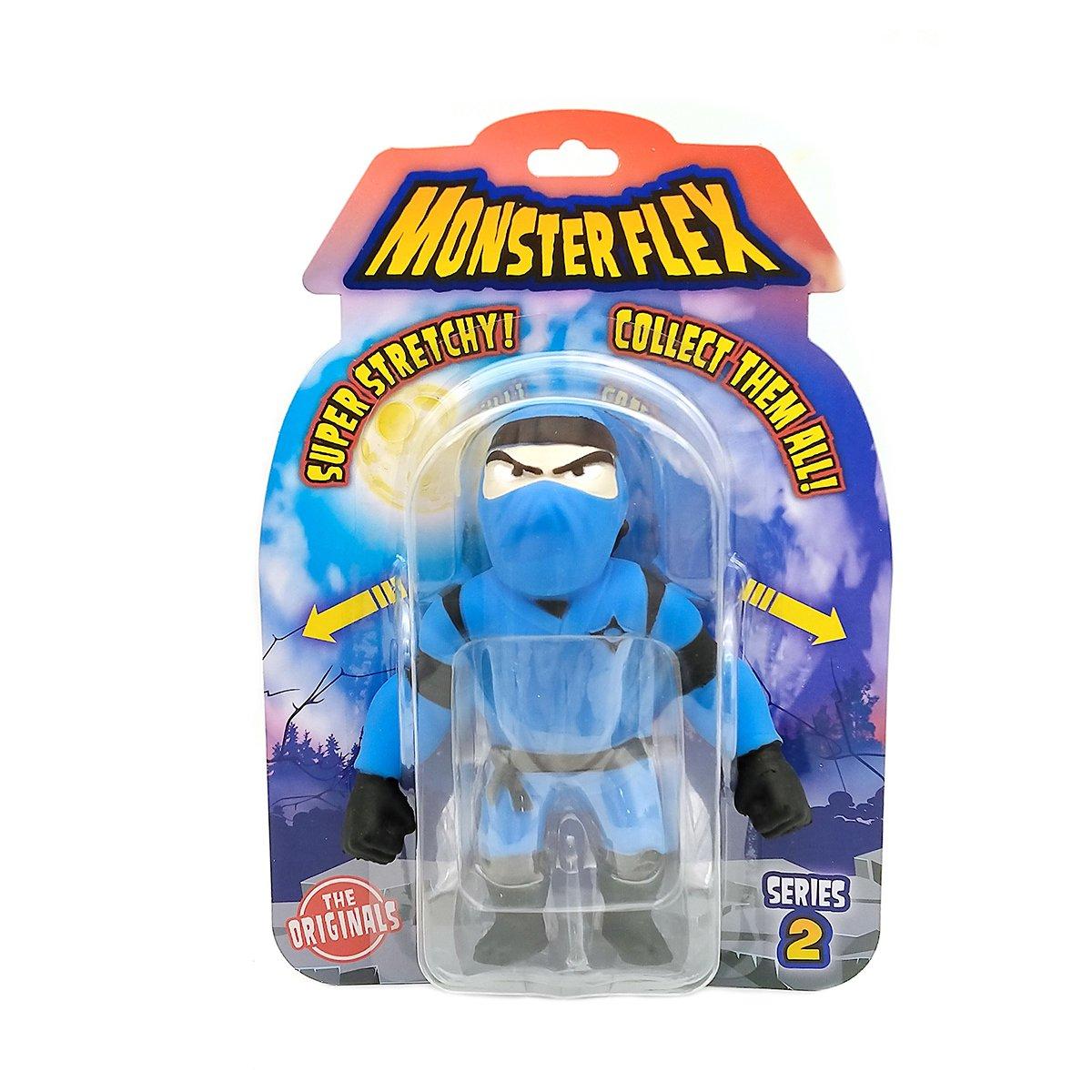 Figurina flexibila Monster Flex, S2, Blue Ninja