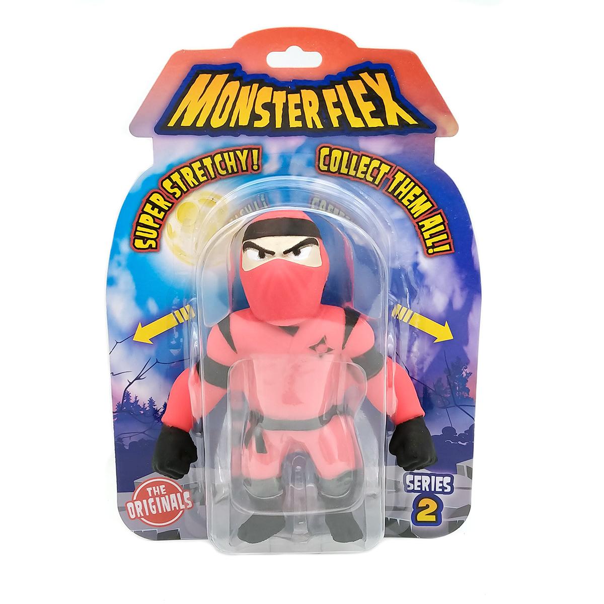 Figurina flexibila Monster Flex, S2, Red Ninja