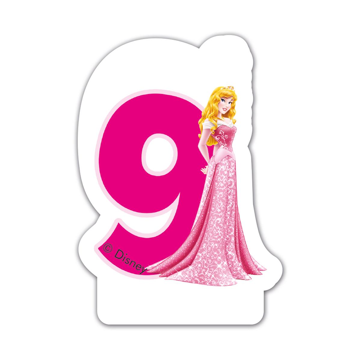 Disney Princess - Lumanare pentru tort cifra 9 imagine