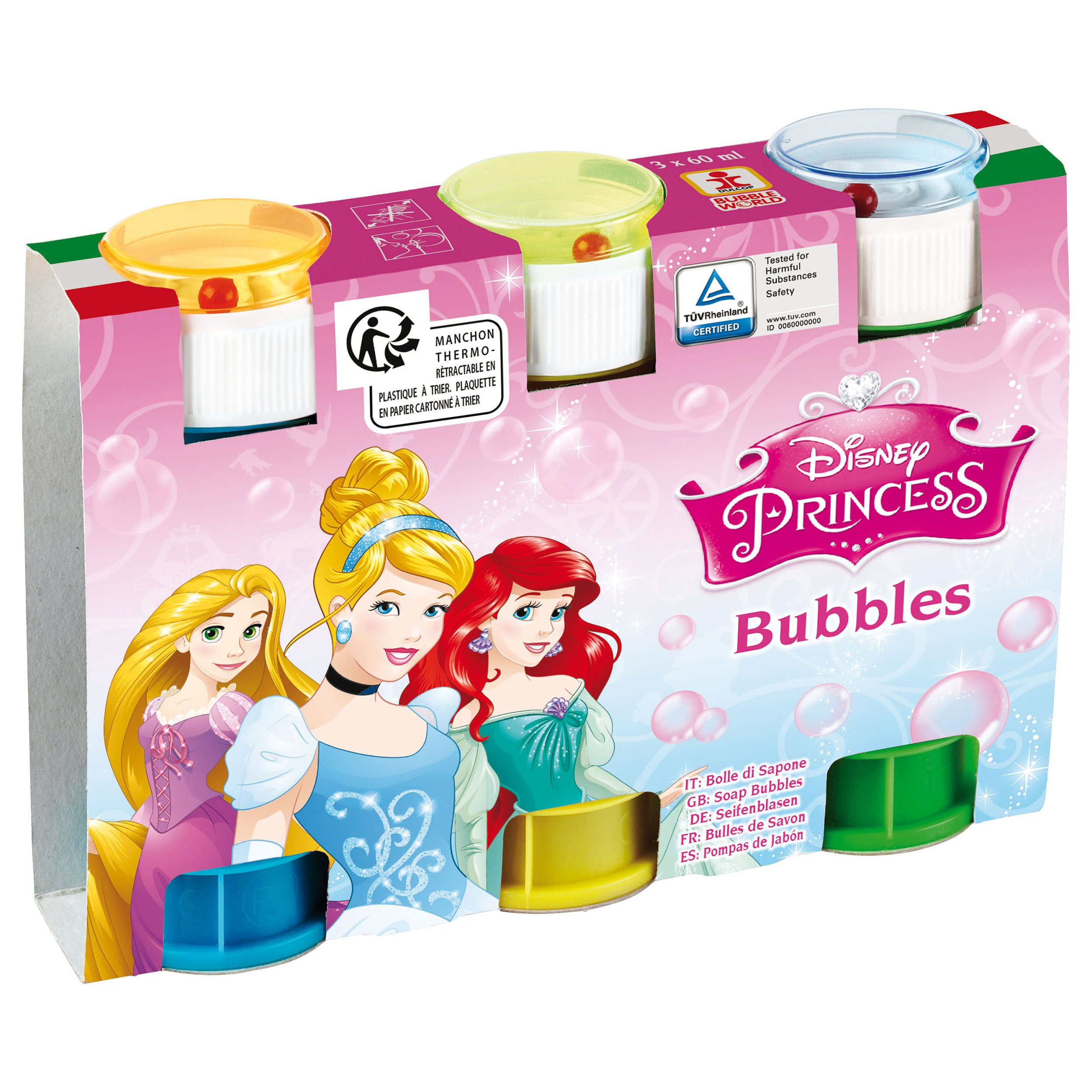Disney Princess - Set 3 tuburi baloane de sapun