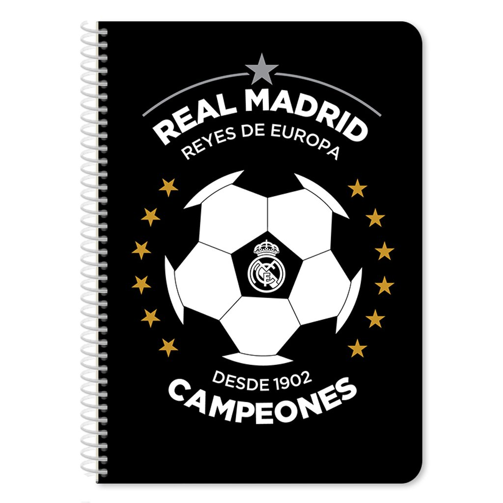 Caiet diactando cu spirala Real Madrid, 60 file, 17 x 25 cm