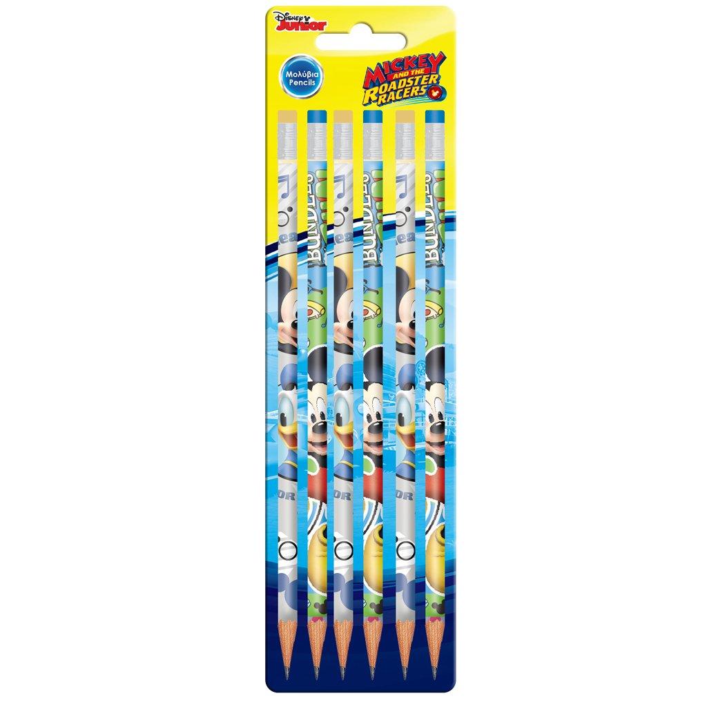 Set 6 creioane cu guma de sters Disney Mickey Mouse