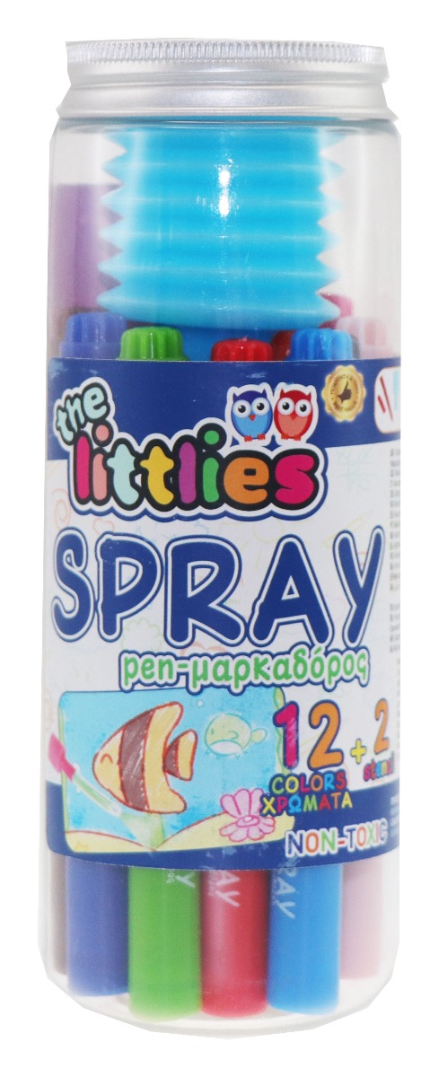 Set de 12 carioci cu spray, The Littlies