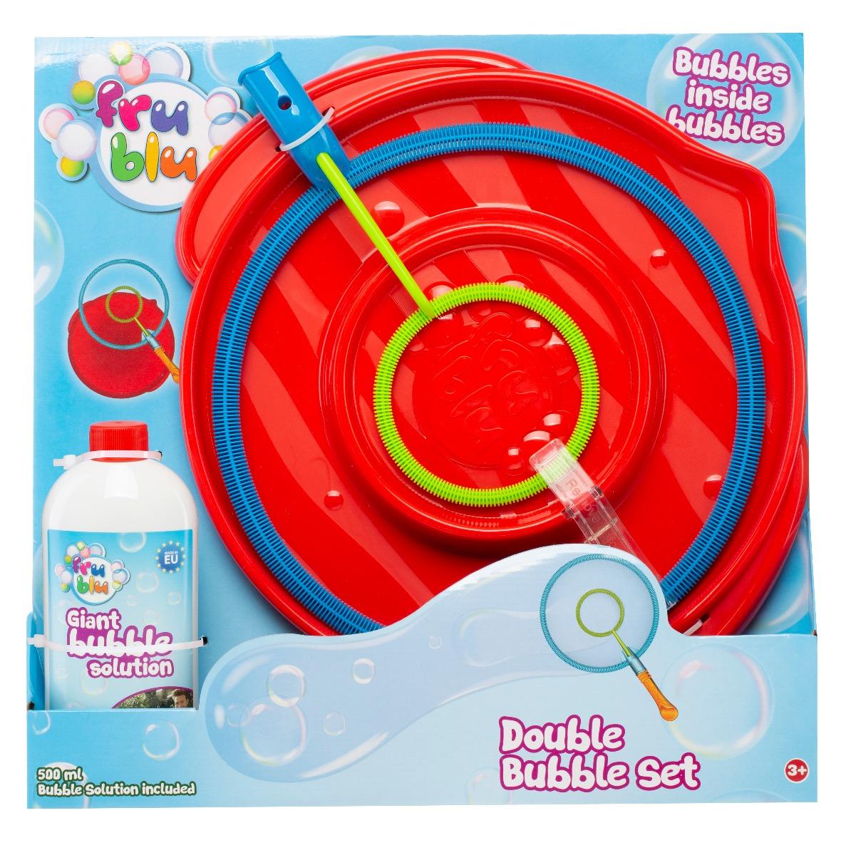 Set baloane de sapun cu bule duble, Fru Blu