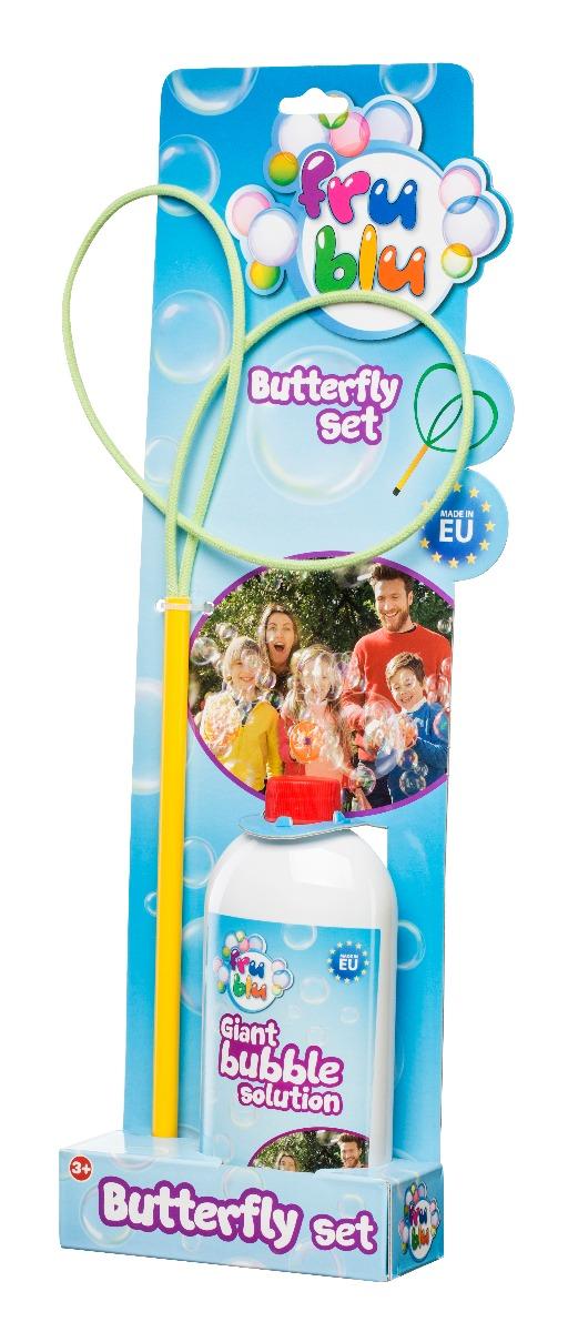 Set baloane de sapun cu Fluture, Fru Blu