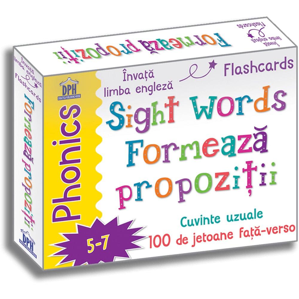 Editura DPH, Sight words - Formeaza propozitii - 100 de jetoane fata-verso - limba engleza