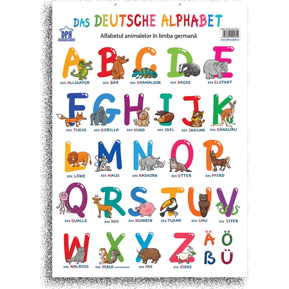 Plansa Editura DPH, Alfabetul animalelor in limba germana imagine 2021