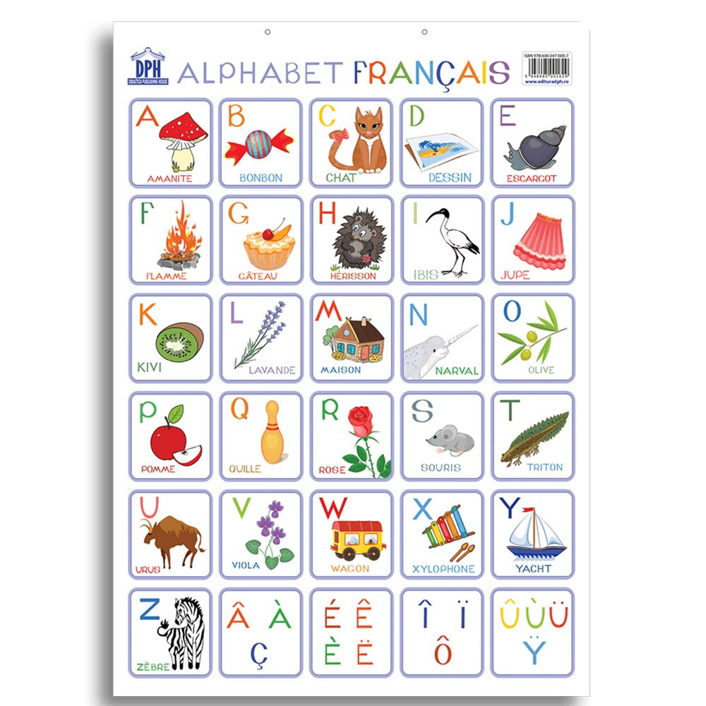 Plansa Editura DPH, Alfabetul ilustrat al limbii franceze