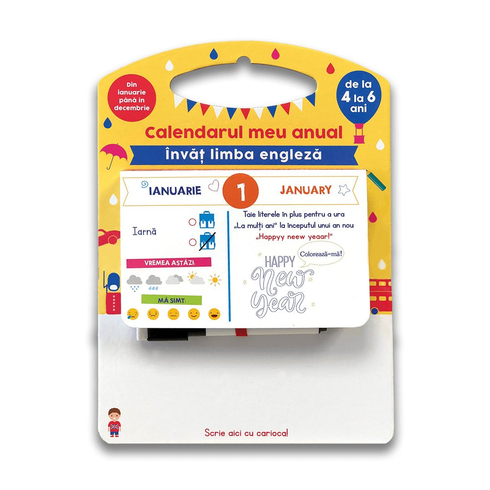 Carte Editura DPH, Invat limba engleza, Calendar, Sandra Sarah Krief